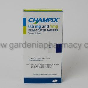 CHAMPIX 11 TAB 0.5 MG+14 TAB 1 MG