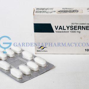 VALYSERNEX 1000MG 20 TAB