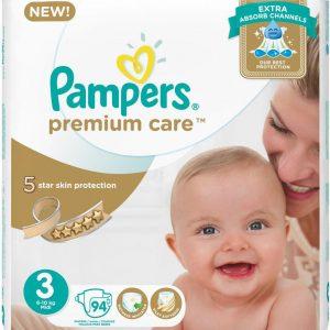 PAMPERS PREMIUM CARE 3 94 PCS