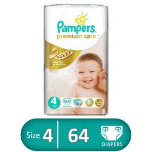 PAMPERS PREMIUM CARE 4 64 PCS