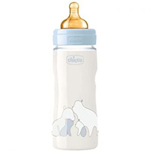Rubber baby feeding bottle for boy by Chicco Egypt