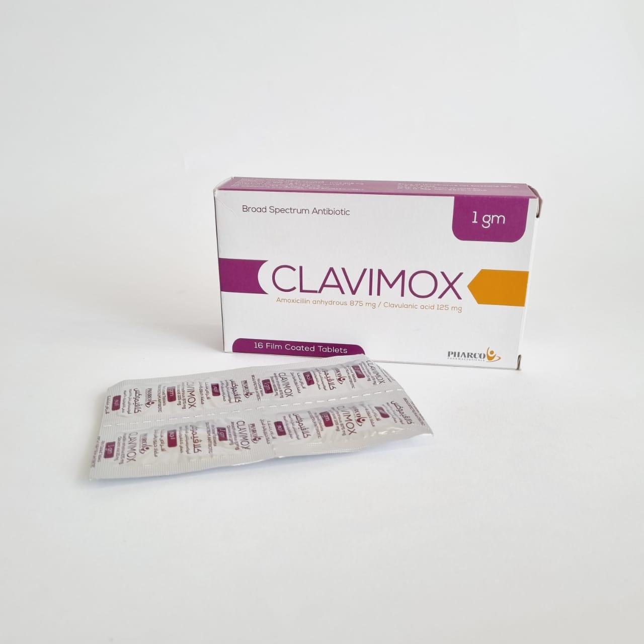 CLAVIMOX 1 GM 16 TAB