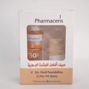 Pharmaceris fluid foundation + dry oil spray