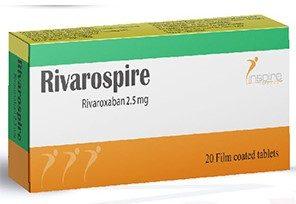 ريفاروسباير 2.5 مجم 20 قرص RIVAROSPIRE 2.5 MG 20 ريفاروسباير 2.5 مجم 20 قرصريفاروسباير 2.5 مجم 20 قرصTAB
