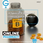 8 Types of B Vitamins vitamin B · thiamin (B1) · riboflavin (B2) · niacin (B3) · pantothenic acid (B5) · pyridoxine (B6) · biotin (B7)